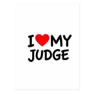 I love my judge postcard