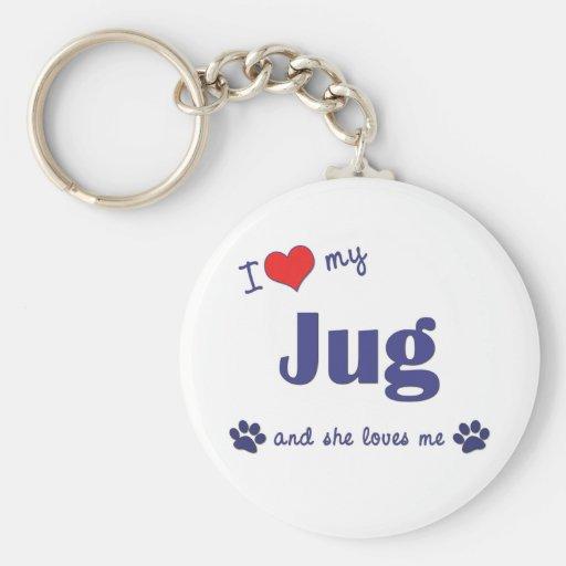 I Love My Jug (Female Dog) Key Chain