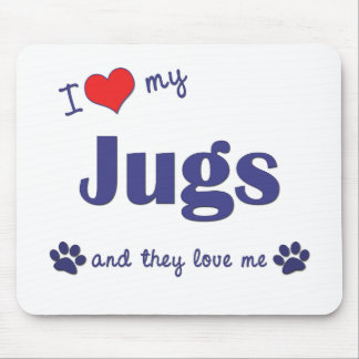 I Love My Jugs (Multiple Dogs) Mouse Mat