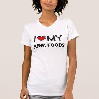 I Love My Junk Foods Digital design Tee Shirts