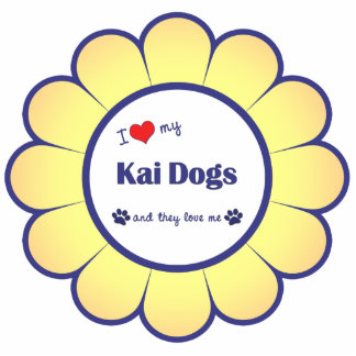 I Love My Kai Dogs (Multiple Dogs) Photo Sculpture Decoration