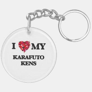 I love my Karafuto Ken Double-Sided Round Acrylic Key Ring