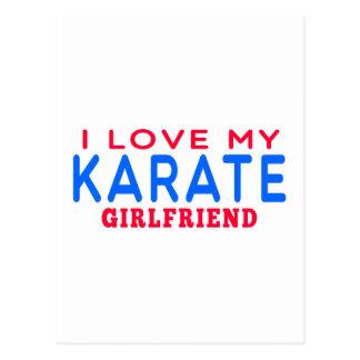 I Love My Karate Girlfriend Postcards