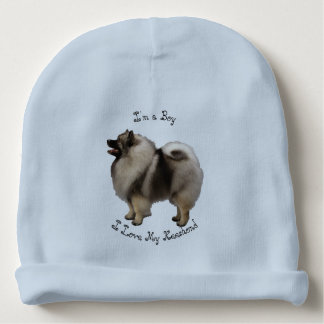 "I Love My Keeshond - ""It's a Boy"" Baby Beanie"