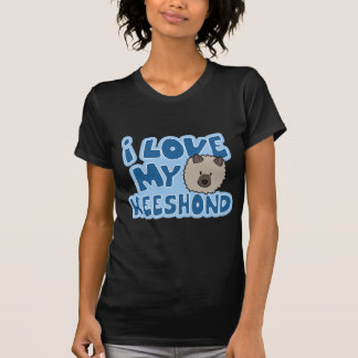 I Love My Keeshond Ladies Twofer Shirt