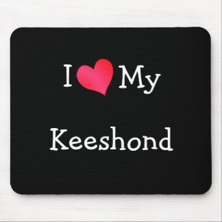 I Love My Keeshond Mouse Mat