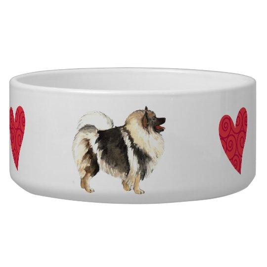 I Love my Keeshond Pet Food Bowl