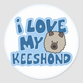 I Love My Keeshond Stickers