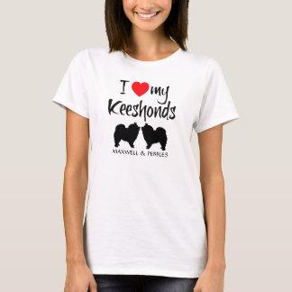 I Love My Keeshonds T-Shirt