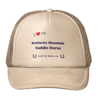 I Love My Kentucky Mountain Saddle Horse (Male) Cap