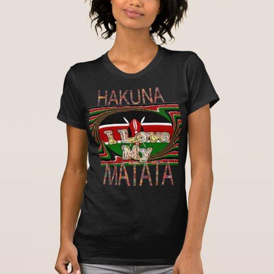 I Love My Kenya Hakuna Matata Black Red