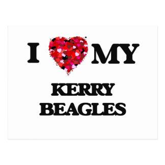 I love my Kerry Beagles Postcard