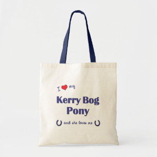 I Love My Kerry Bog Pony (Female Pony) Tote Bag