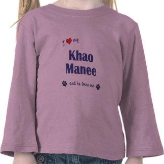 I Love My Khao Manee (Male Cat) T-shirts