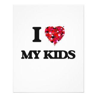 I Love My Kids 11.5 Cm X 14 Cm Flyer