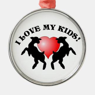 I LOVE MY KIDS GOAT CHRISTMAS ORNAMENT