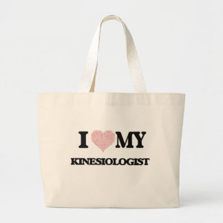 I love my Kinesiologist (Heart Made from Words) Jumbo Tote Bag