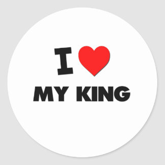 I love My King Stickers