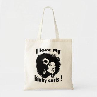 I love  My Kinky Curls! Budget Tote Bag