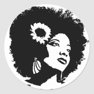 I love my Kinky Curly Hair Round Sticker