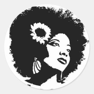 I love my Kinky Curly Hair Round Sticker