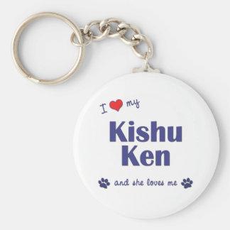I Love My Kishu Ken (Female Dog) Keychains