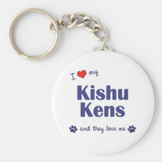 I Love My Kishu Kens (Multiple Dogs) Keychain