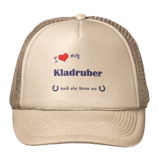 I Love My Kladruber (Female Horse) Cap