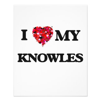 I Love MY Knowles 11.5 Cm X 14 Cm Flyer