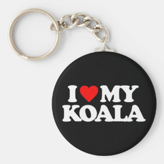 I LOVE MY KOALA BASIC ROUND BUTTON KEY RING