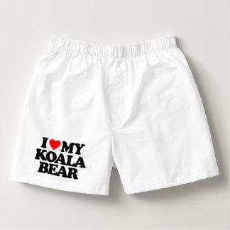 I LOVE MY KOALA BEAR BOXERS