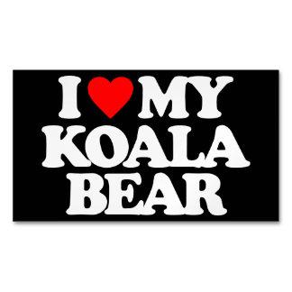 I LOVE MY KOALA BEAR MAGNETIC BUSINESS CARDS