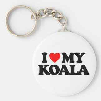 I LOVE MY KOALA BASIC ROUND BUTTON KEY RING
