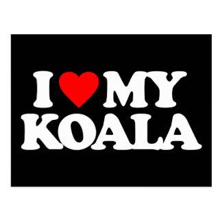 I LOVE MY KOALA POSTCARD