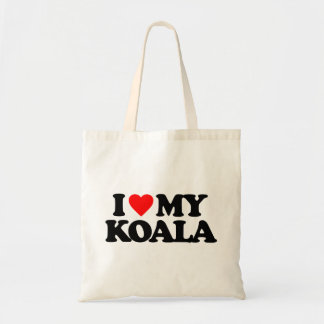 I LOVE MY KOALA BUDGET TOTE BAG
