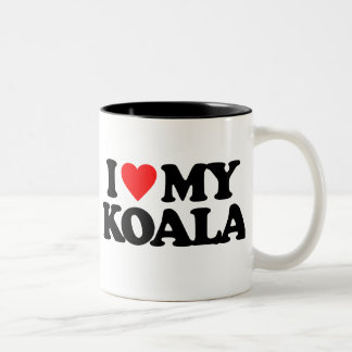 I LOVE MY KOALA Two-Tone COFFEE MUG