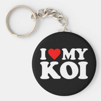 I LOVE MY KOI BASIC ROUND BUTTON KEY RING