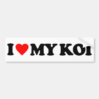 I LOVE MY KOI CAR BUMPER STICKER