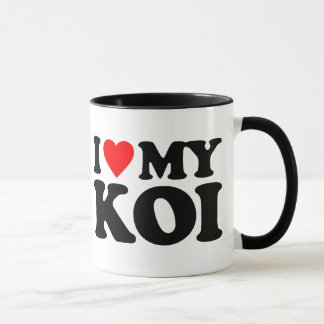 I LOVE MY KOI MUG