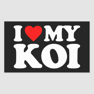 I LOVE MY KOI STICKER