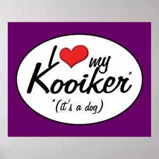 I Love My Kooiker (It's a Dog) Print