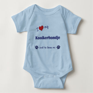 I Love My Kooikerhondje (Male Dog) Baby Bodysuit