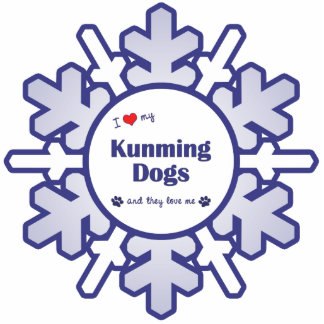 I Love My Kunming Dogs (Multiple Dogs) Photo Sculpture Decoration