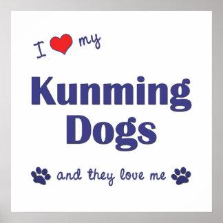 I Love My Kunming Dogs Multiple Dogs Print