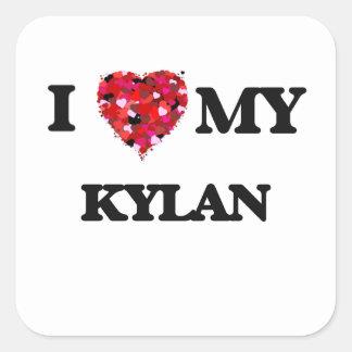 I love my Kylan Square Sticker