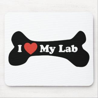 I Love My Lab - Dog Bone Mouse Pad