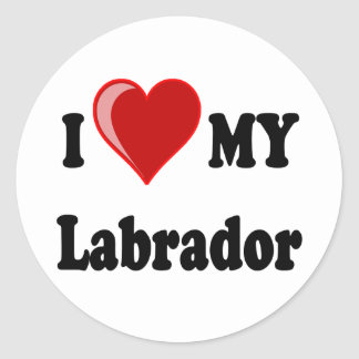I Love My Labrador Dog Sticker
