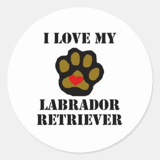 I Love My Labrador Retriever Stickers