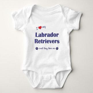 I Love My Labrador Retrievers (Multiple Dogs) Baby Bodysuit