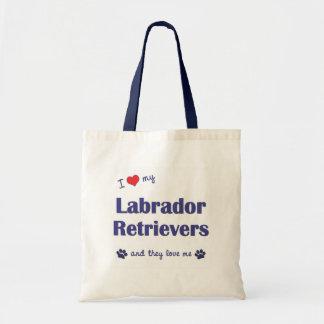 I Love My Labrador Retrievers (Multiple Dogs) Tote Bag